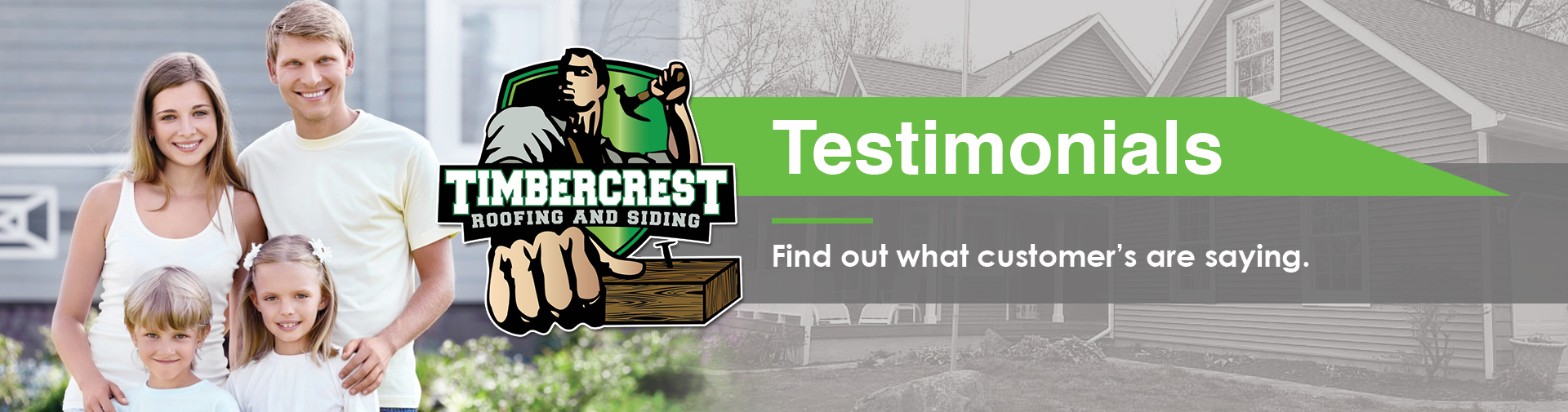 Timbercrest Roofing and Siding Testimonials